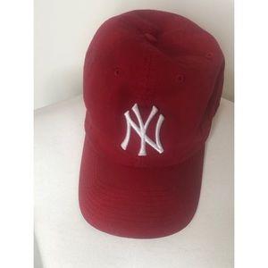 New York Yankees Red Adjustable Dad Hat- 47 Brand